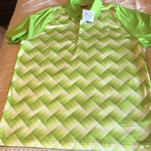 NWT Puma lime green Cool Cell golf polo Men's L